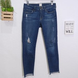 Rich & Skinny raw step hem crop fit jeans size 26